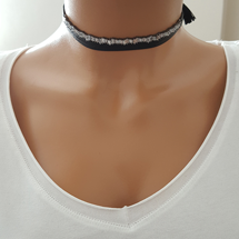 Choker Women Necklace Thin Women Necklace 925 Sterling Silver Made in TURKEY