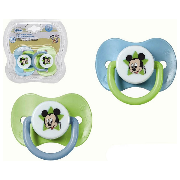 Set Of Rubber Dummies Mickey Mouse Disney +3M 119063 (2 Uds)