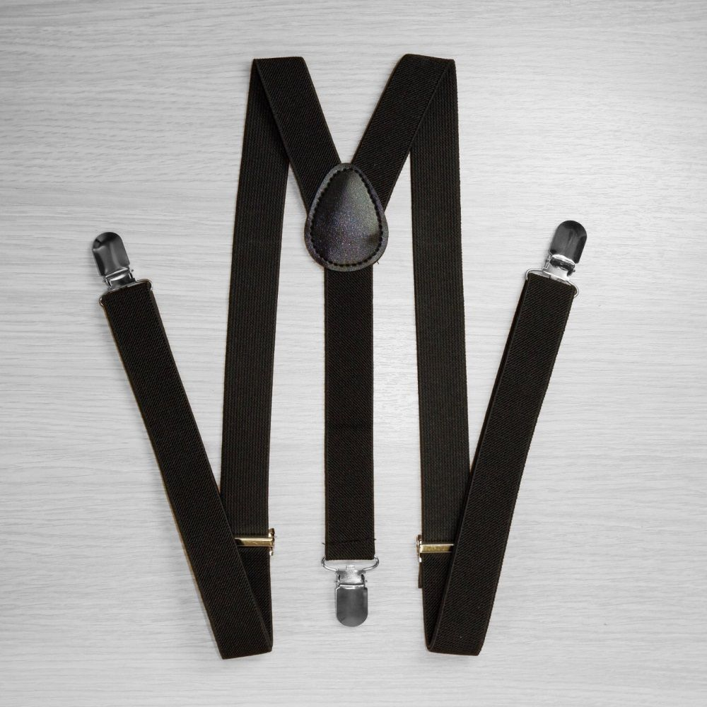 Pants Suspenders Narrow (2.5 Cm, 3 Clips, Black) 50822