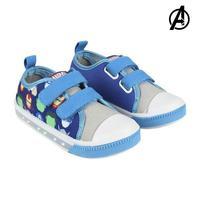 Sapatos casuais com leds os avengers 73625 azul