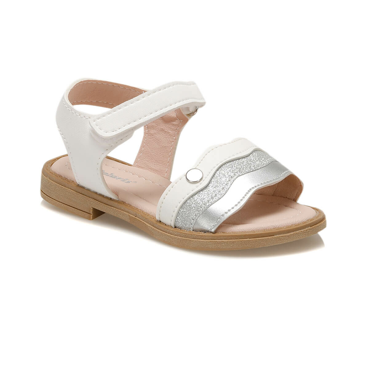 FLO 91.511314.P White Female Child Sandals Polaris
