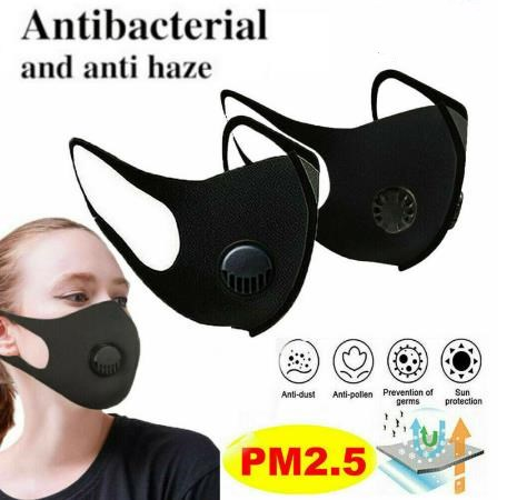 Reusable Washable Face Mask Women Men Cotton Protective Mask Activated Carbon Filter In Stock Wholesale