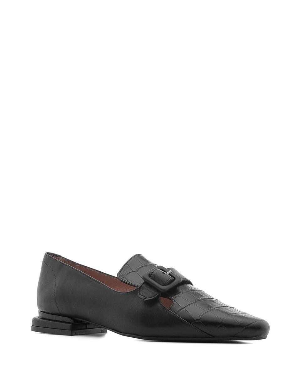 ILVi-Handmade Genuine Leather Regina Women's Moccasin Black Crocodile-Black Leather 2020 Women Shoes for Spring Summer