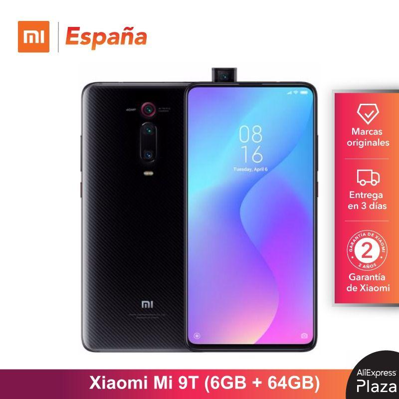 Xiao mi mi 9T (ROM 64 go, RAM 6 go, Triple cámara de 48 MP, Android, Nuevo, Libre) [Teléfono Movil Versión Global para España] Smar