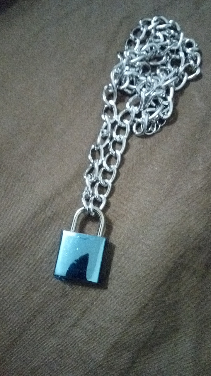 Chain With Lock Necklace Punk photo review