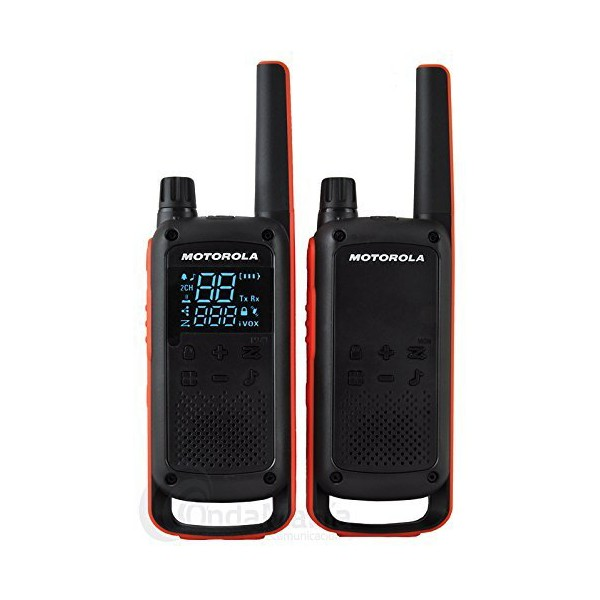 Walkie-Talkie Motorola T82 (2 Pcs) Black Orange