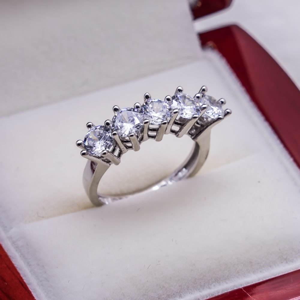 925 sterling Silver Dibs Lady Ring Model 4()