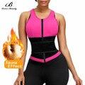 Amante da beleza das mulheres neoprene cintura trainer colete suor sauna esportes sutiã shapewear compressão fajas slinmming corpo shaper cinto