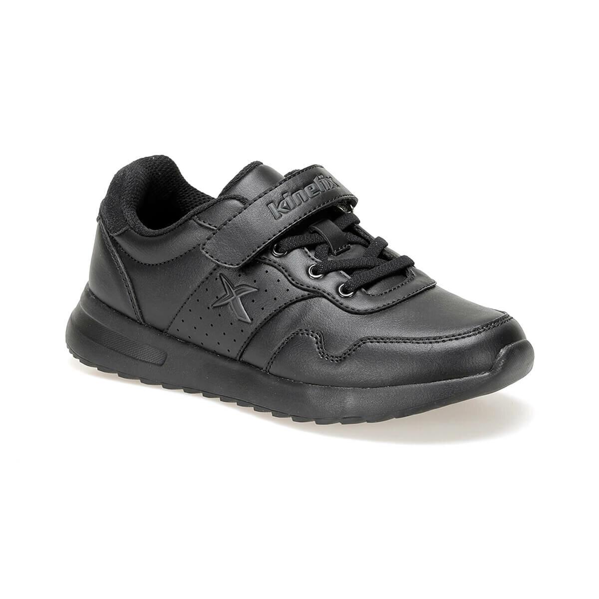 FLO FABIA PU J 9PR Black Male Child Sneaker Shoes KINETIX