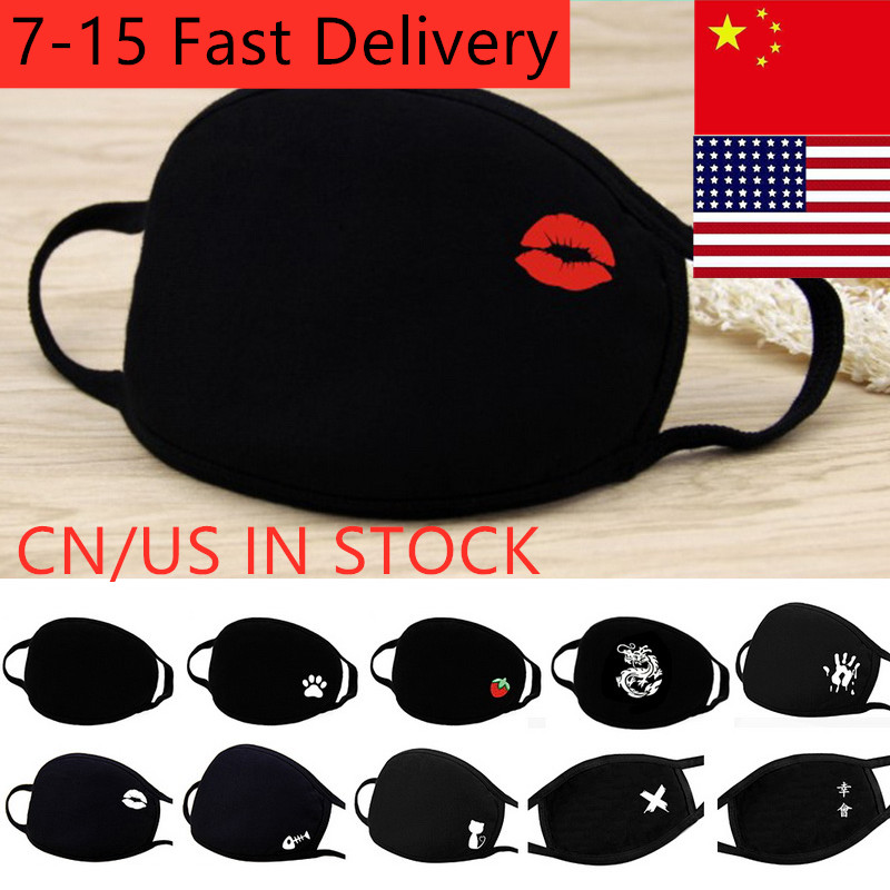 3PC Simple Cotton Mask Simple Unisex Black Cycling Breathable Mouth Face Mask Face Mouth Mask Dropshipping