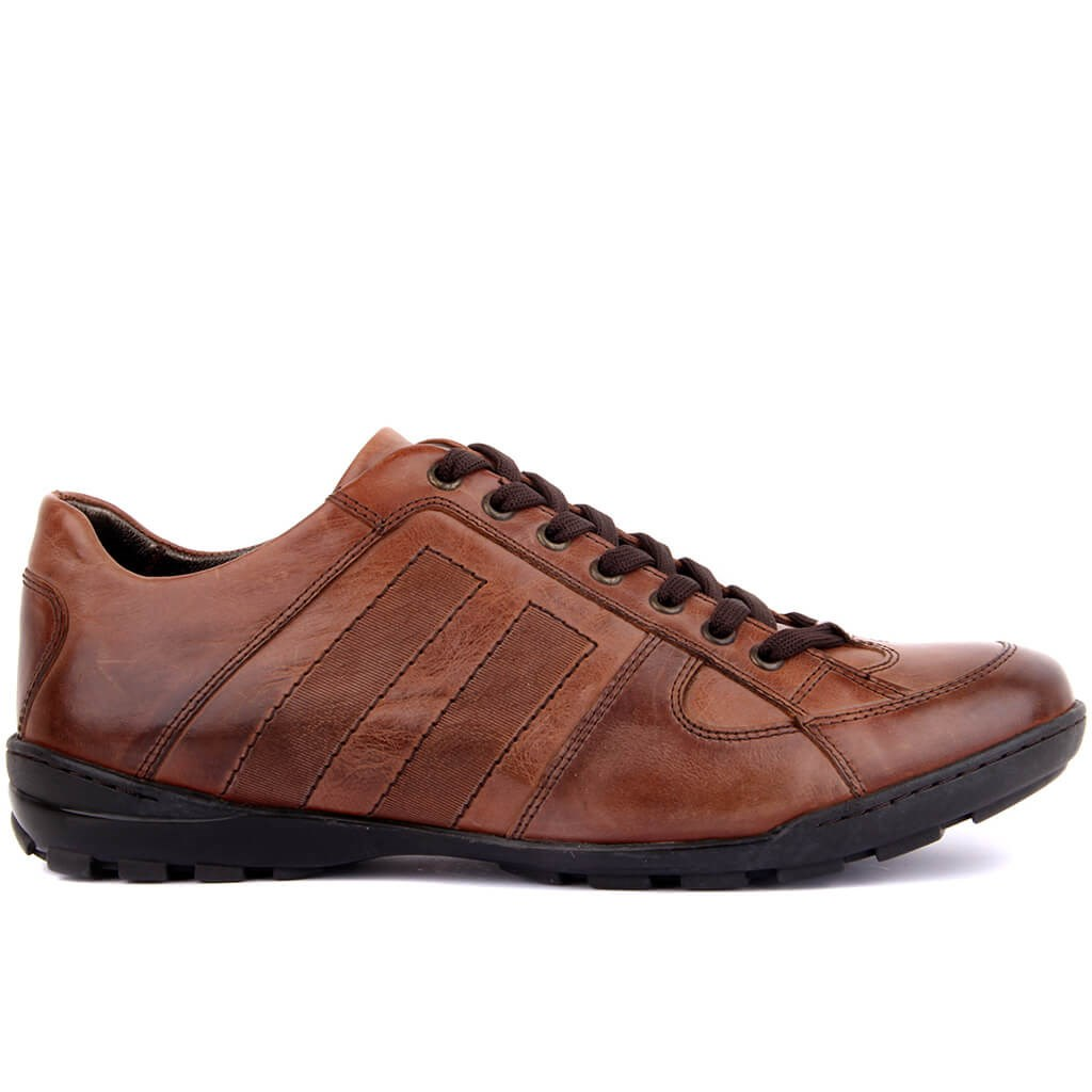 Sail Lakers-Tan Leather Men 'S Casual Shoes