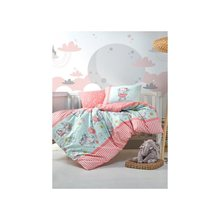 Duvet-Cover-Set Cotton-Box Easy-To-Iron Print Washable Pink Elephant Baby