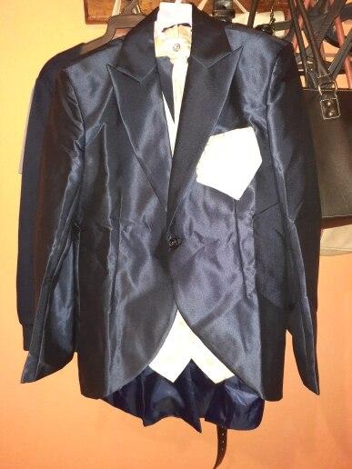 New Fashion Handsome Dark Gray Mens Suit Groom Suit Wedding Suits For Best Men Slim Fit Groom Tuxedos For Man(Jacket+Vest+Pant)