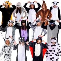 Пижамы Кигуруми Пингвин, Летучая Мышь, Коала, Енот, Лемур, Какашка, Волк, Корова, пижамы женские и мужские.