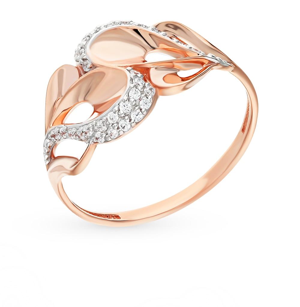 Gold ring with cubic zirconia SUNLIGHT test 585 сартаков с ледяной клад