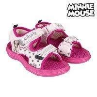 Sandálias infantis minnie mouse rosa