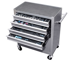 TROLLEY WORKSHOP TOOLS MOBILE WITH WHEELS 5 DRAWER 81 TOOLS INCLUDED