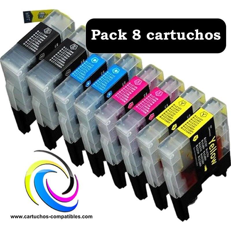 Saudara Pack 8 LC-980 LC-985 LC-1100 LC980 LC985 LC1100 Kompatibel Gratis Pengiriman.