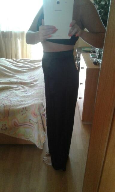 Maxi Pants For Women High Waist Zipper Pocket Summer Big Large Size Long Trousers Fashion Elegant Clothing photo review