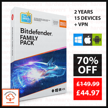 ✅ 2 YEARS BitDefender Family Pack 2020 | 15 Devices | TOTAL PROTECTION + VPN