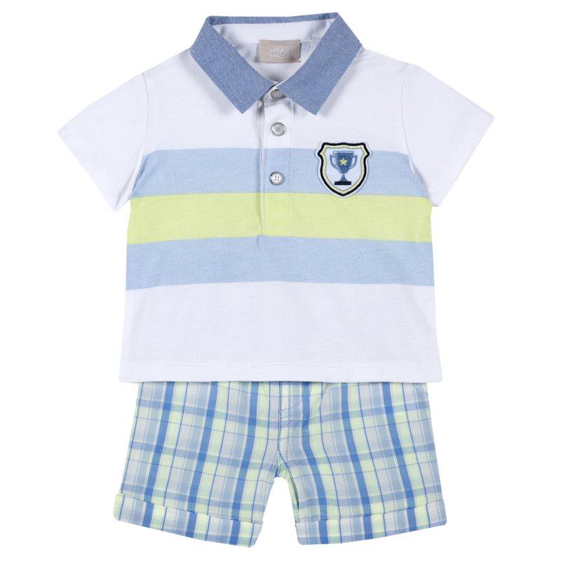 Set polo shorts Chicco, size 080, color multicolor