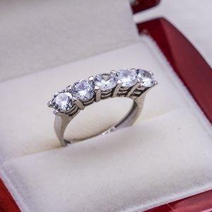 925 пробы Серебряное кольцо для девушек модель 2