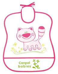 Babero plástico suave canpol art. 2/919 color rosa