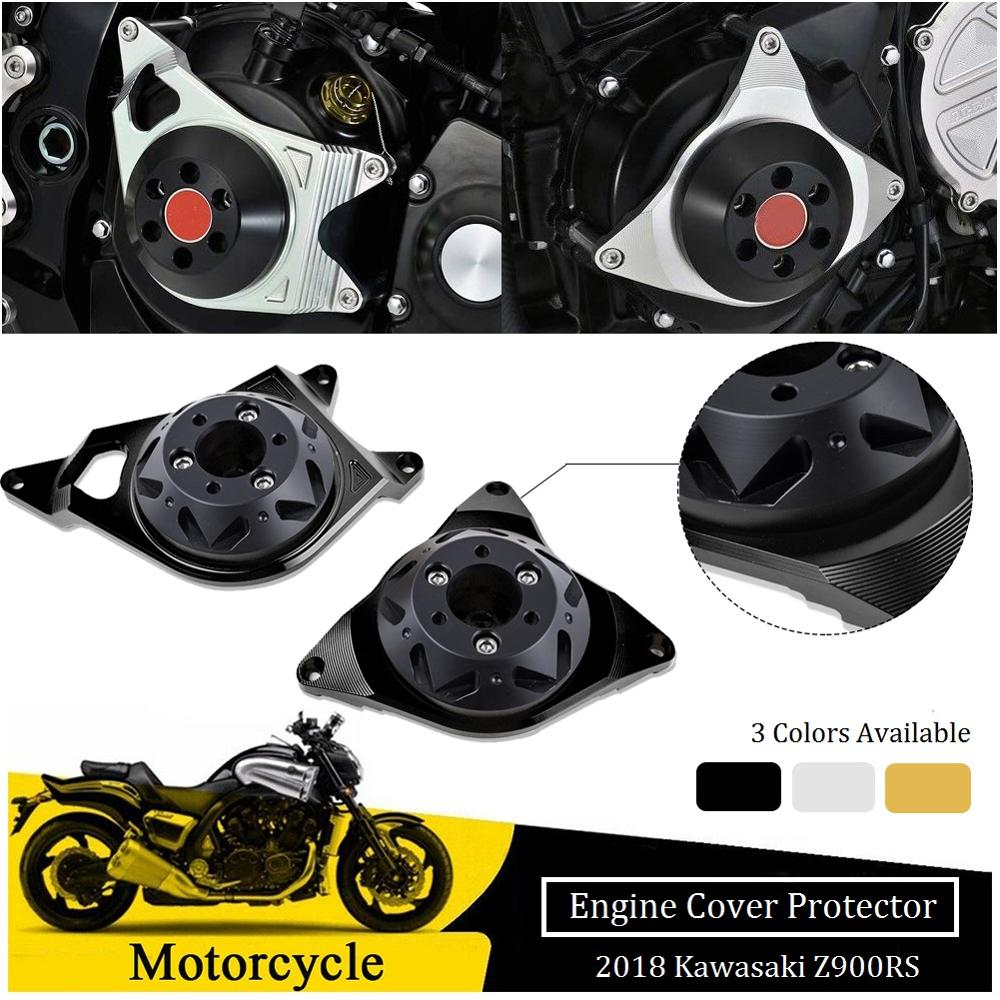 CNC Aluminium Full Engine Guard Stator Case Clutch Cover Frame Slider Protector Panel for 2018 Kawasaki Z900RS Z900 RS 900RS