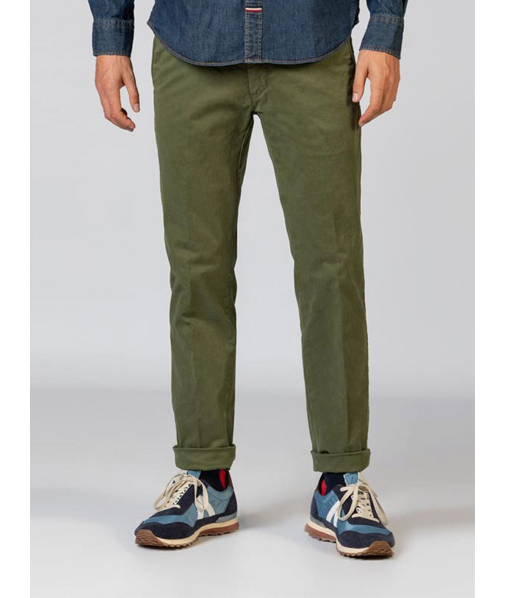 CHINESE GOOSE Trousers Long Pants For Men Green Color Menswear 2020
