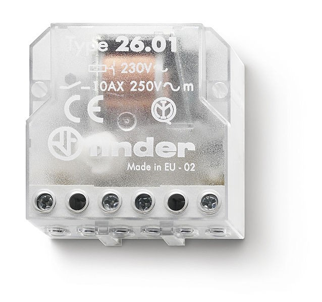 FINDER 26.06 Vac Control Switch Relay 2Ctos NA 10A
