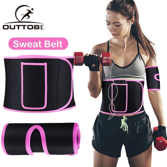Outtobe Sweat Belt Waist Trimmer Belt Waistband Sports Waist Belt Fitness Belt Sweating Body Abdomen Adjustable Intensive