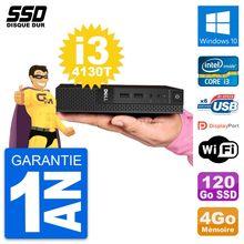 Ultra Mini PC Dell 3020 Micro USFF i3-4130T RAM 4Go SSD 120Go Windows 10 Wifi