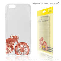 FunnyTech®Stand case for BQ Aquaris M5 Silicone L Motorcycle retro transparent fund