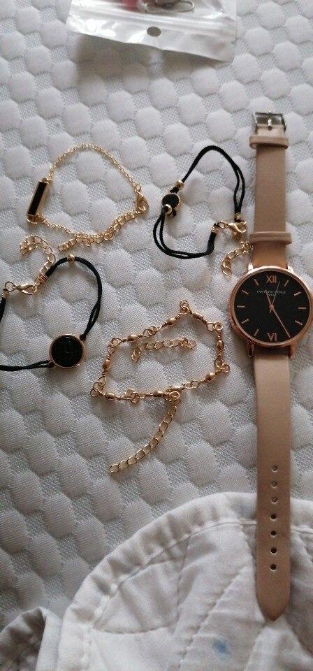 Watch Set Women 5pcs Woman Quartz Wristwatch Leather Ladies Bracelet Luxury Watch Casual Relogio Femenino Gift For Girlfriend photo review