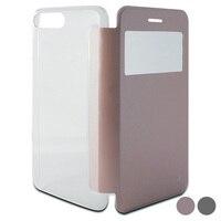 Capa de telefone móvel folio iphone 8 plus/7 plus ksix cristal vista|  -