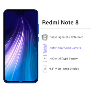 "Image 2 - Global Original Redmi Note 8 4GB 128GB ROM Octa Core Smartphone Snapdragon 665 48MP 6.3"" Screen 18W Fast Charger Cellphone"