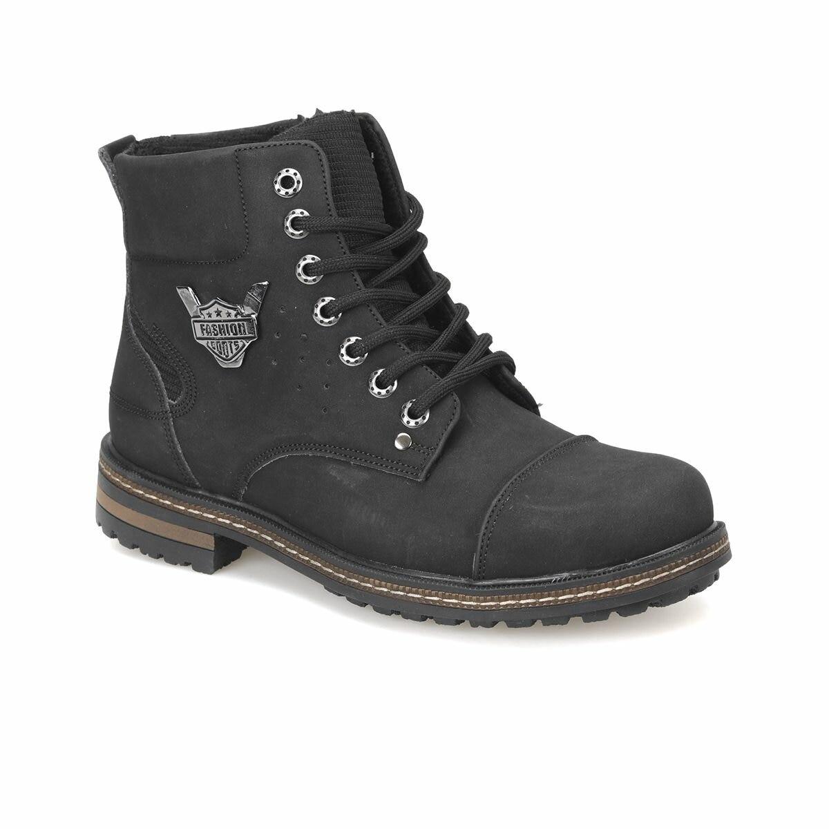 FLO LG-001 Black Men Boots Panama Club