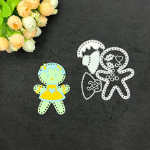 Metal Cutting Dies New 2019 Girl Baby Stitched DIY Scrapbooking Stamps Craft Embossing Die Cut Making Stencil Template(China)