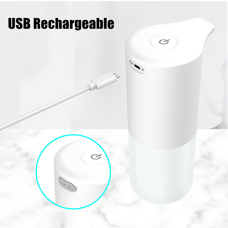 350ML Touchless Automatic Soap Dispenser USB Charging Smart Foam Machine Infrared Sensor Foam Soap Dispenser Hand Sanitizer 3