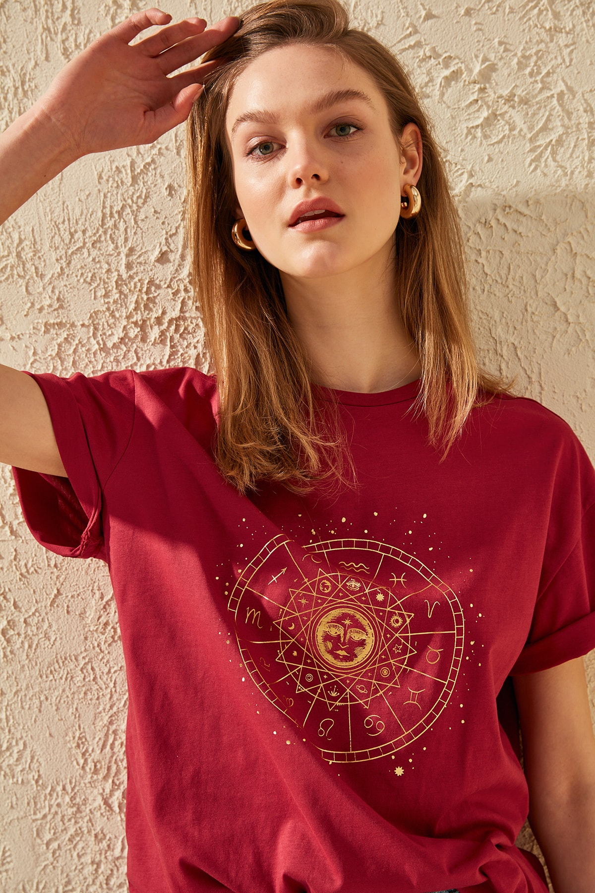 Trendyol Printed Boyfriend Knitted T Shirt TWOSS20TS0249