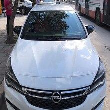 Livraison gratuite accessoire de voiture Nouveau Style chauve-souris haute qualité Abs plastique 2 pièces miroir couvre casquettes rétroviseur boîtier brillant noir pour Opel Astra K 2015-2019