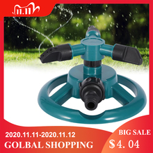 Garden Sprinklers Automatic Watering Grass Lawn 360 Degree 3 Nozzle Circle Rotating Irrigation System Garden Supplies