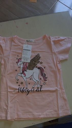 Children's T-Shirt Children for Girl Boy Girls Kids Kid's Shirts Child Baby Toddler Unicorn Party Tee Tops Clothing Short Tees photo review