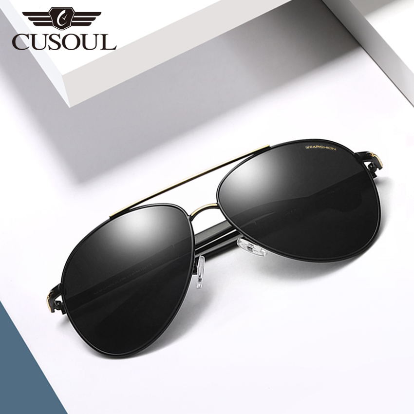 Cusoul Shades Oversized Polarized Sunglasses for Mens Outdoor Sun Glasses 100% UV Protection with Free Box, Lightweight Eyewear