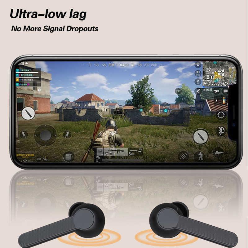Ubeamer Tws Bluetooth Earphone Wireless Headphone Наушники Беспроводные Sport Gaming Earbud Baru Headset Mikrofon untuk Komputer