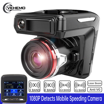 DVR  G-Sensor Radar Speed Detector Vehicle Video Recorder For Russian Photography  2in1 1080P Driving Dash Camera Electronics