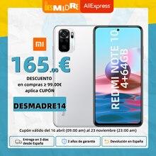 [Versión Garantía Española Oficial] Xiaomi Redmi Note 10 Snapdragon 678 AMOLED Pantalla 48MP cuádruple Cámara 33W 64gb 128gb