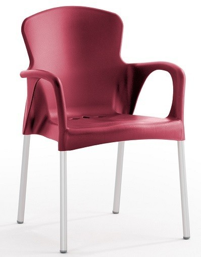 Armchair SEINE Stackable Polypropylene Bordeaux *