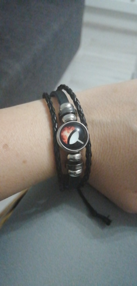 Naruto Sharingan Leather Bracelet (6 types) photo review