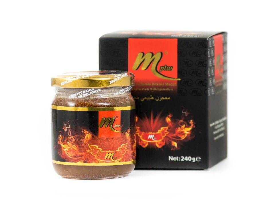 Mplus Epimedium Turkish Honey Mix  230gr –Aphrodisiacs Horny Goat Weed Turkish Paste